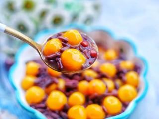 補血養顏的紅豆南瓜糯米丸子,超級好吃。