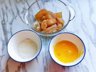 糖醋龍利魚,雞蛋敲碗里,我和筷子打散。