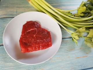 牛肉絲炒芹菜,準備食材