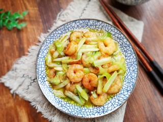 韭黃炒蝦仁