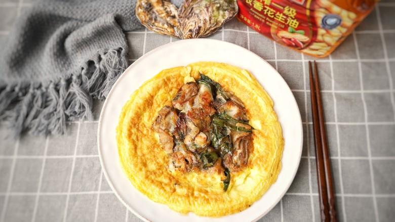 牡蛎炒蛋,成品。