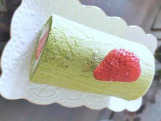 🍓抹茶草莓海盐蛋卷🍓