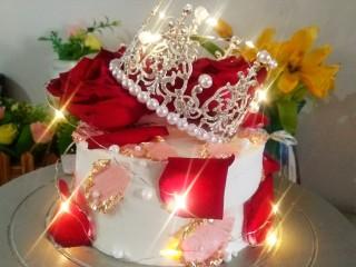 鲜花皇冠蛋糕