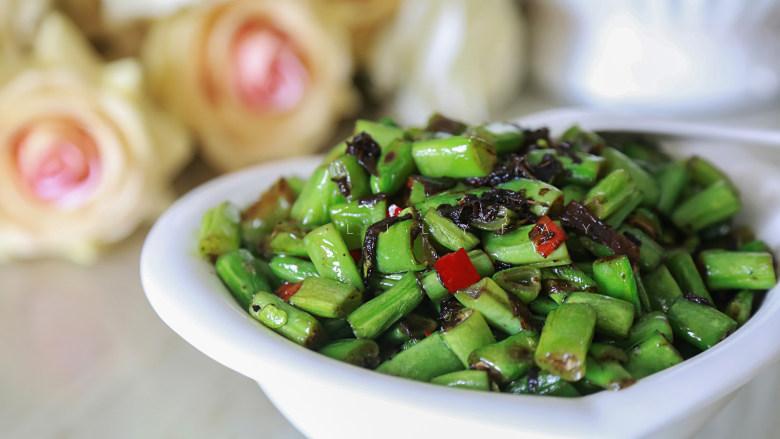 橄榄菜炒四季豆,成品2