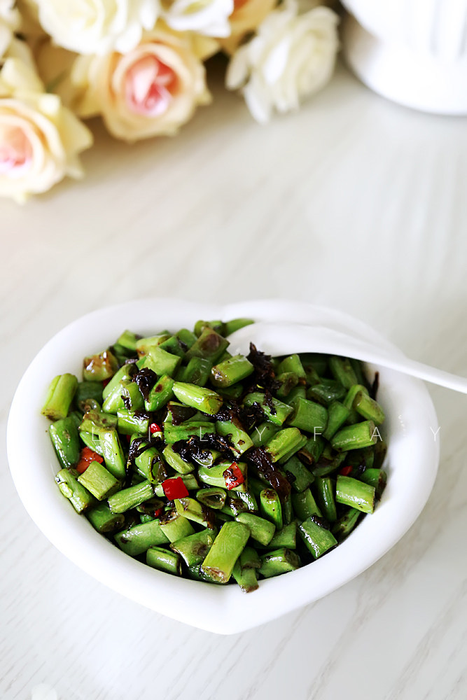 橄榄菜炒四季豆,成品3