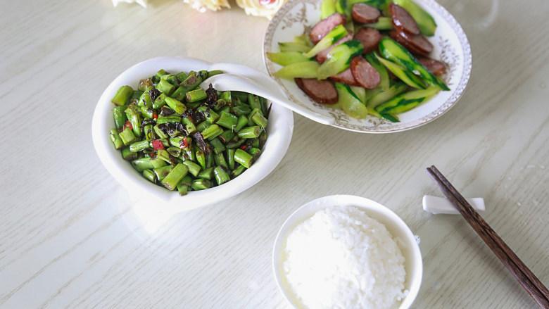 橄榄菜炒四季豆,成品8