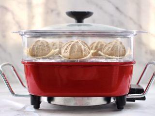 青稞蜜豆包,蜜豆包胚發至原來的1.5倍,大火燒開蒸20分鐘關火燜5分鐘即可。