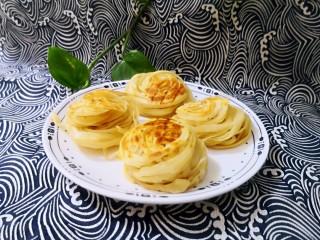 黃金千絲餅,好吃,操作簡單。