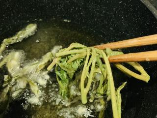炸香椿魚,夾入香椿;
