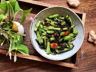 橄欖菜炒四季豆,成品