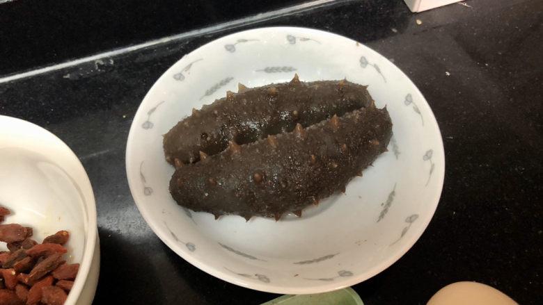 小米海参粥➕稻花麦浪入画来,捞出备用