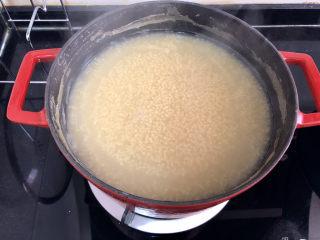 小米海參粥?稻花麥浪入畫來,煮到自己喜歡的粘稠程度