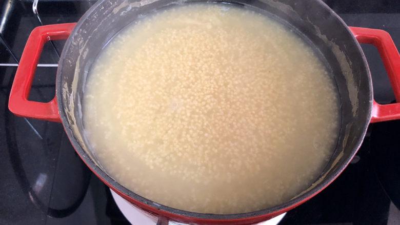 小米海参粥➕稻花麦浪入画来,煮到自己喜欢的粘稠程度