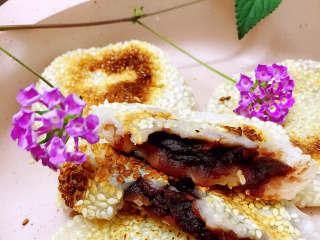 玫瑰豆沙糯米餅