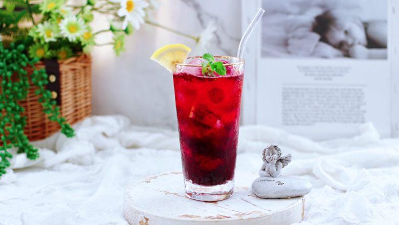 蔓越莓桑葚气泡水