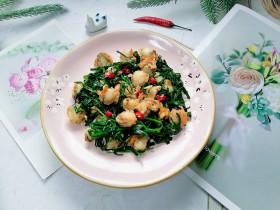 韭菜炒扇貝