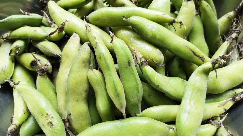 五香蚕豆,买回来的带皮蚕豆。