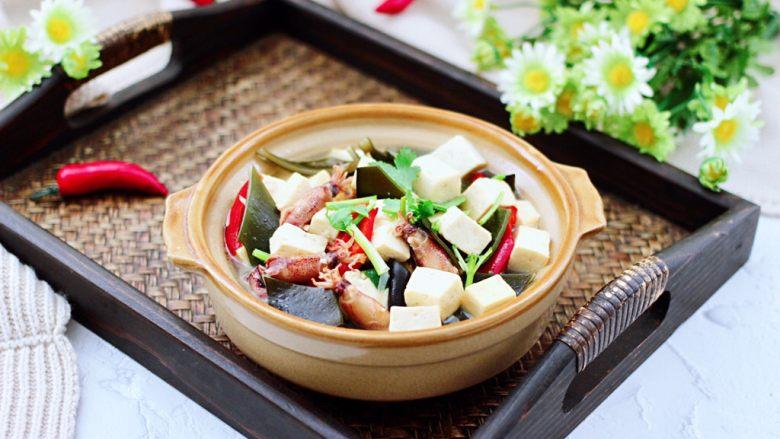 海带豆腐汤,成品