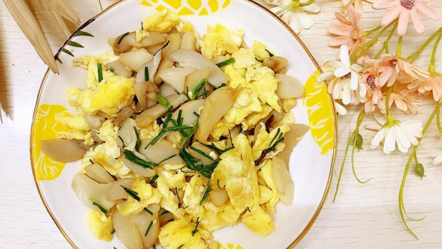 杏鲍菇炒鸡蛋