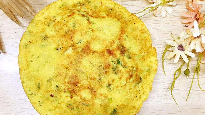 西葫芦玉米鸡蛋煎饼,简直金黄