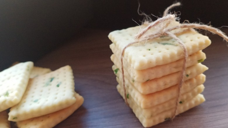 香葱苏打饼干,香葱苏打饼干就完成了