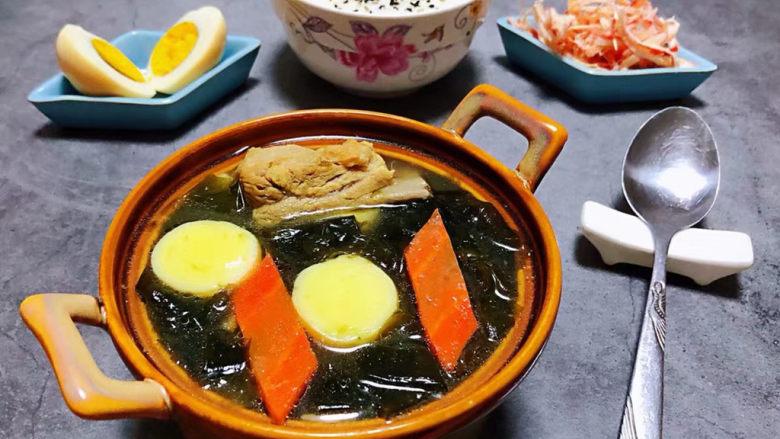 海带豆腐汤,有了大米饭的出场瞬间就完美啦