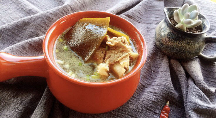 海带筒骨汤,成品图