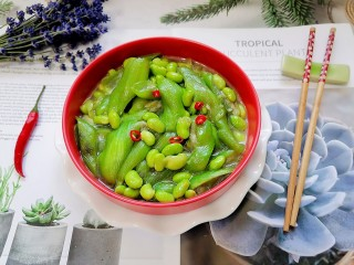 絲瓜炒毛豆