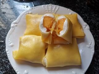 手把手教你做,超级好看,也超级好吃的芒果班戟