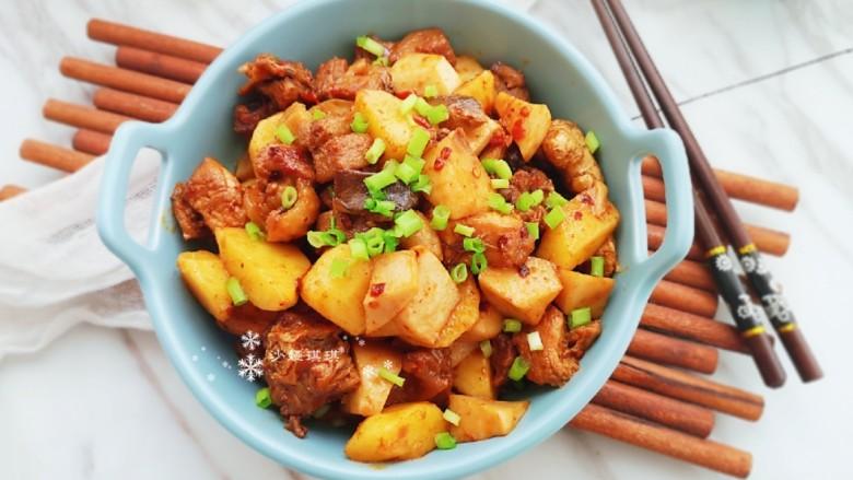 杏鲍菇烧鸡块,家常好吃的烧菜!