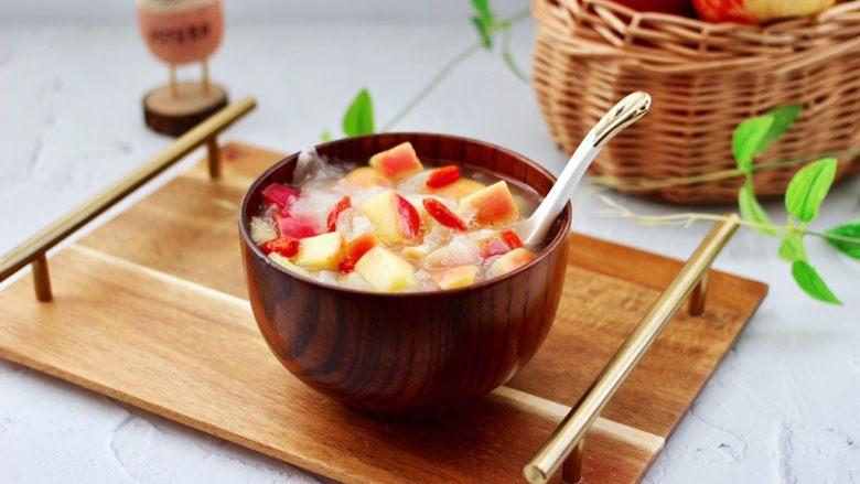 苹果银耳枸杞汤