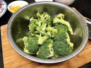 西兰花炒牛肉➕春风花草香,淡盐水浸泡后的西兰花能有效去除农药等残留。清洗备用