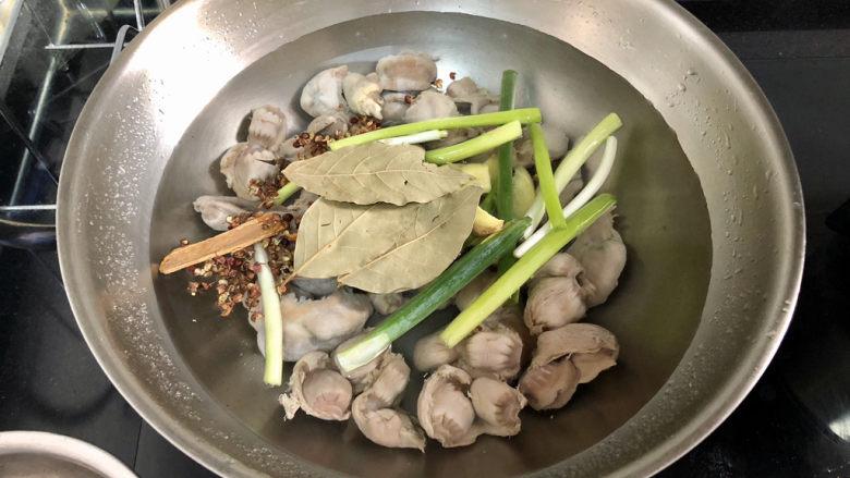 酸豆角炒鸡胗➕ 呼童烹鸡酌白酒,放入香料
