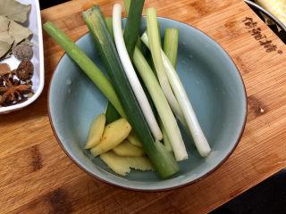 酸豆角炒雞胗? 呼童烹雞酌白酒,小蔥兩根洗凈切段,姜去皮洗凈切片