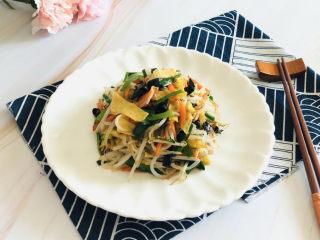 韭菜炒豆芽———五福合菜