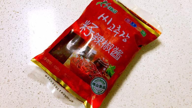 香辣毛豆,辣椒酱