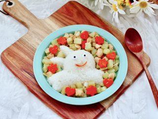鸡丁莴苣小炒@小兔子饭团
