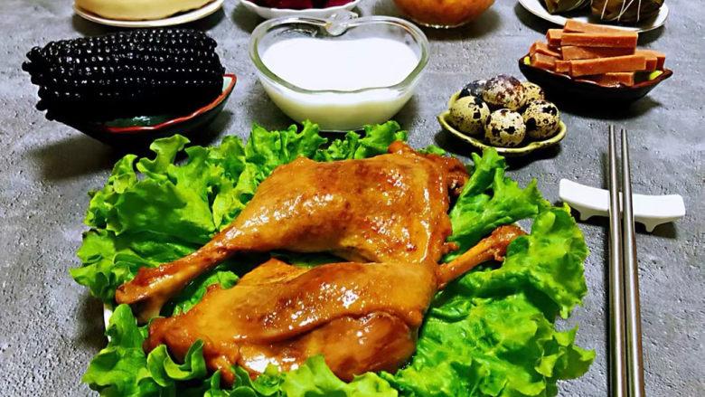 红烧鸭肉,好有食欲的丰盛早餐会带来一天满满正能量噢