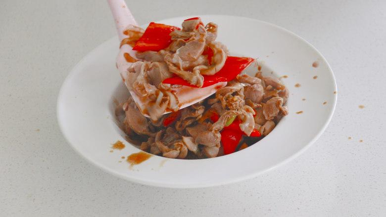 辣炒鸡胗,盛盘出锅,一道辣炒鸡胗,真的是太香了~