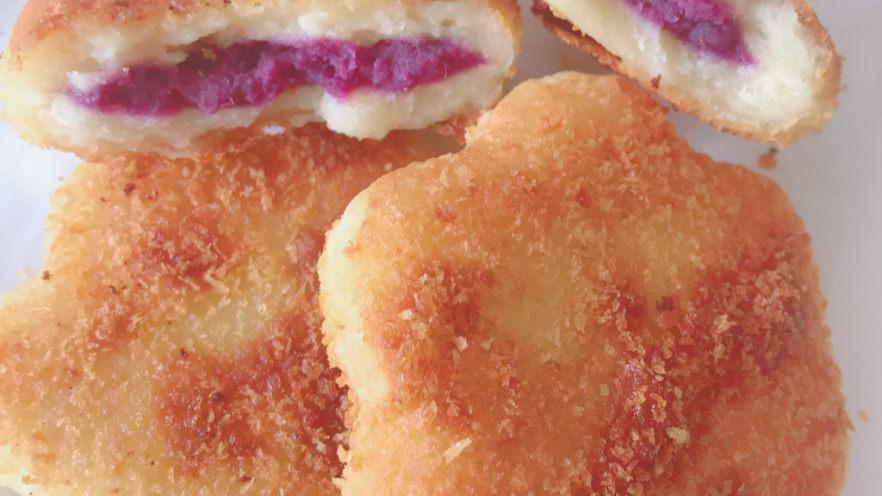 紫薯山药小花饼