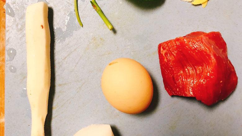 汉菜牛肉丸子汤,所需食材如图