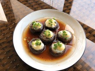 香菇鹌鹑蛋,成品图。