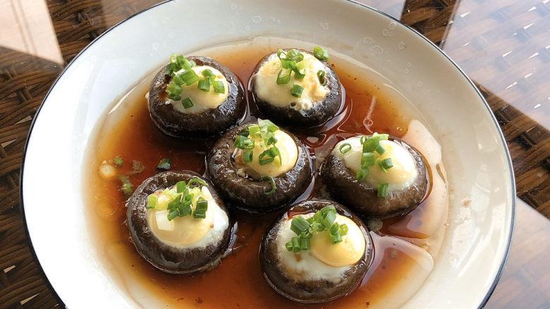 香菇鹌鹑蛋,成品图,是不是很有食欲。