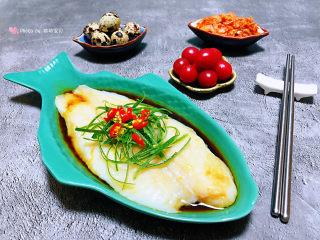 清蒸龙利鱼,龙利鱼的营养非常丰富这样做没有吃特别适合孩子老人吃