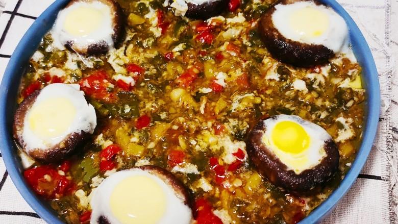 香菇鹌鹑蛋,大火蒸5分钟出锅