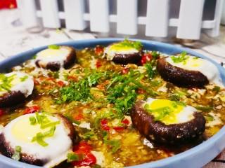 香菇鹌鹑蛋,成品图