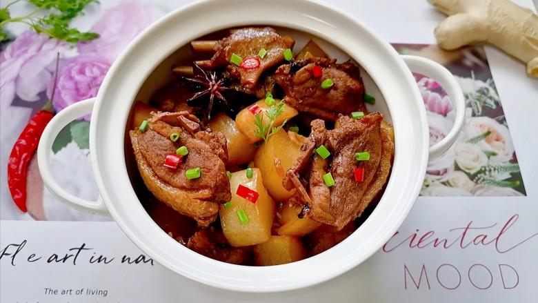 萝卜炖鸭肉