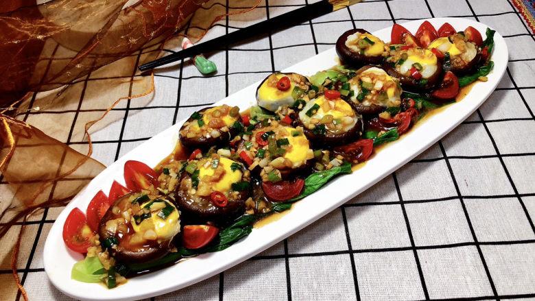 香菇鹌鹑蛋➕ 翠苑红芳晴满目,成品