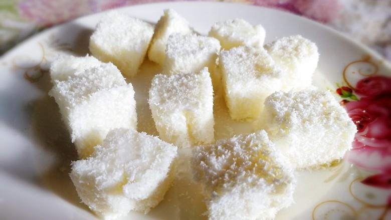 椰奶小方【零失败】,健康小食。