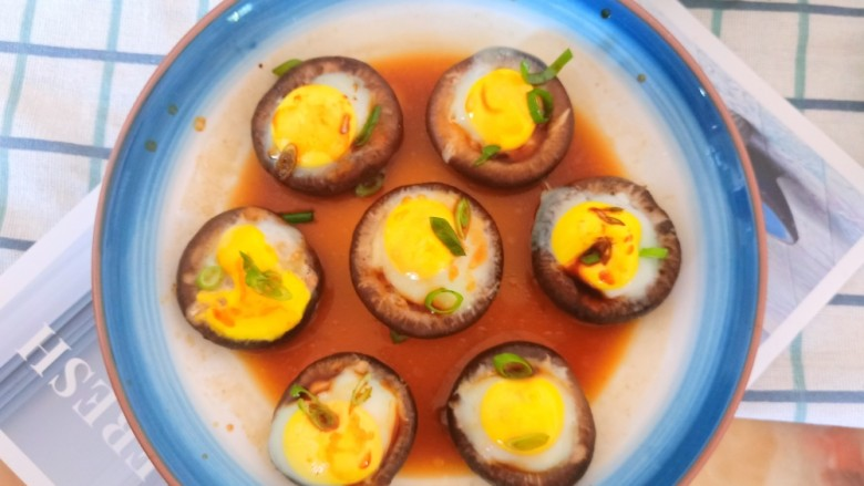 香菇鹌鹑蛋,做法简单好吃有营养。
